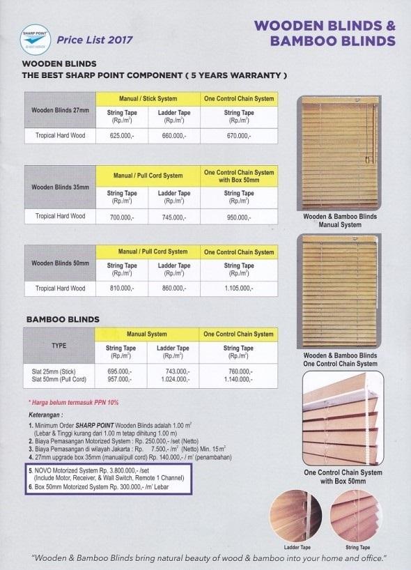 harga wooden blinds makassar
